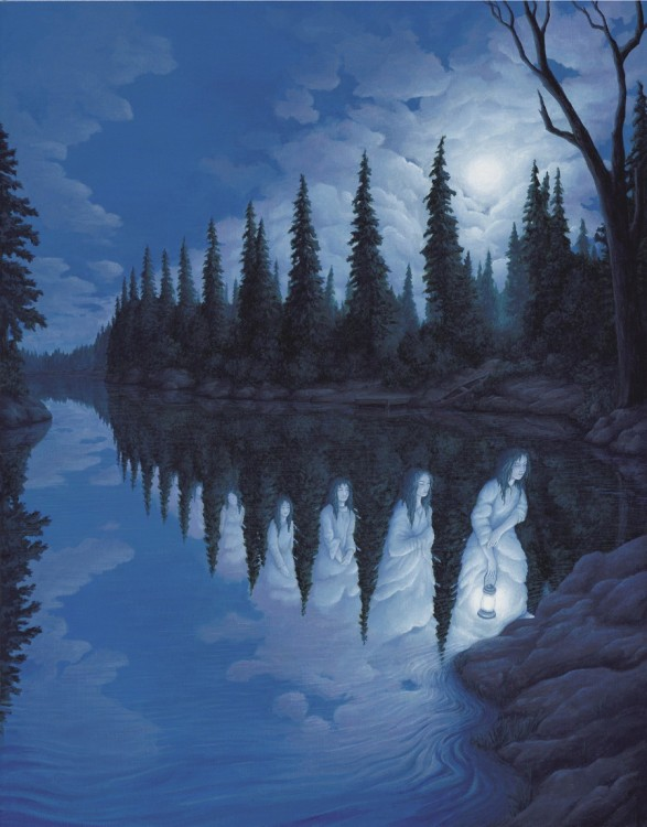 25. Rob Gonsalves Optical Illusion Painting