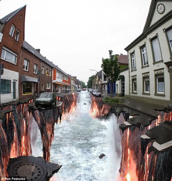 3. Hot River 3d illusion