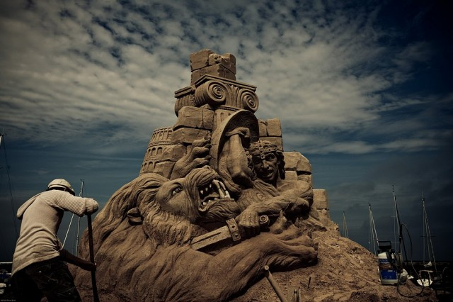 4. Beautiful Sand Sculpture