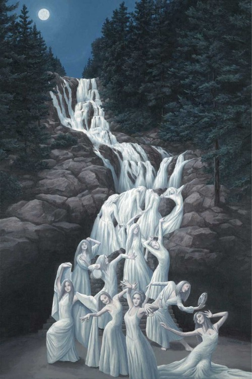 4. Rob Gonsalves Optical Illusion Painting