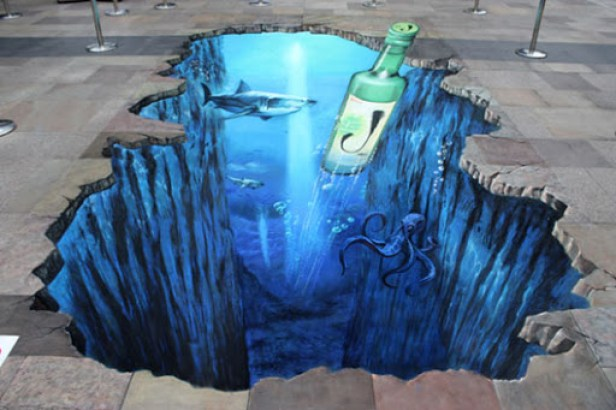 8. 3d street painting