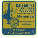 Gallaudet College Alumni Sticker