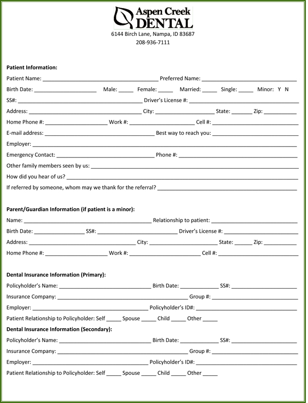 Fill Out My Resume. Invoice Template Printable New Patient Form