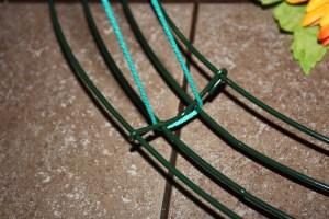 tie to wire wreath
