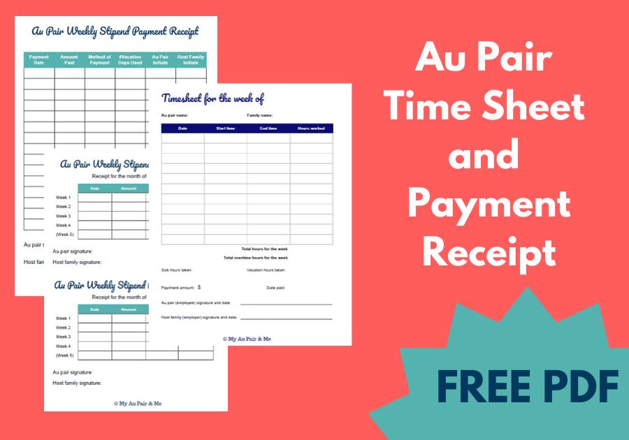 Au Pair Timecards Free PDF