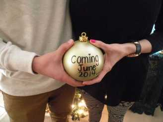 Christmas Pregnancy Announcement 1