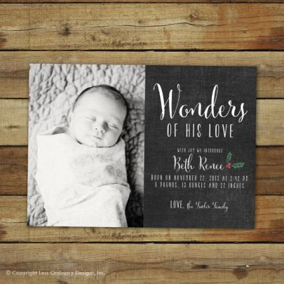 Birth Announcement Christmas Card 1