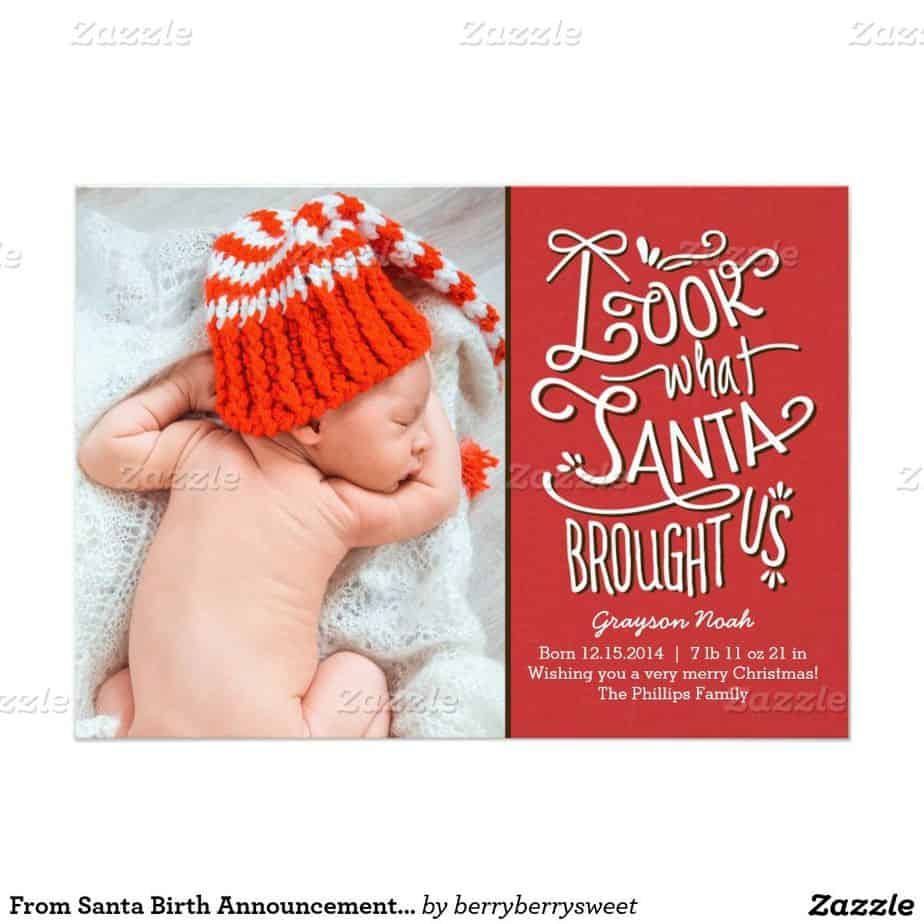 christmas card birth announcement - Selom.digitalsite.co