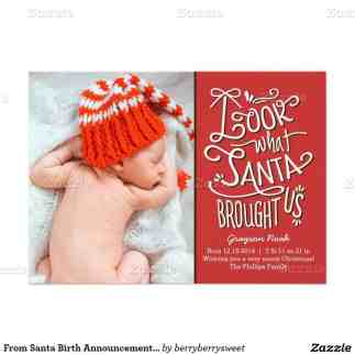 Birth Announcement Christmas Card 14