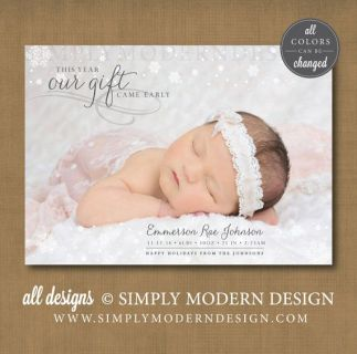 Birth Announcement Christmas Card 15