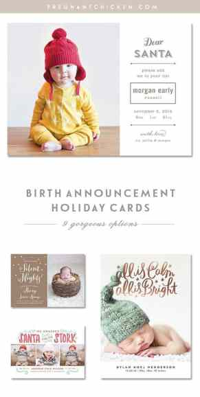 Birth Announcement Christmas Card 17
