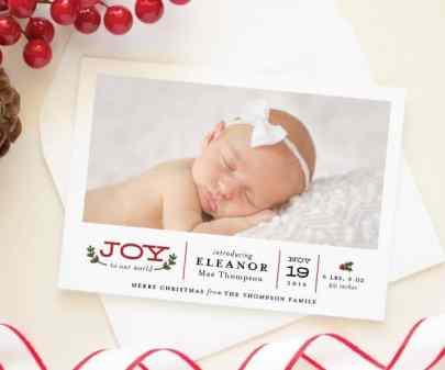 Birth Announcement Christmas Card 20