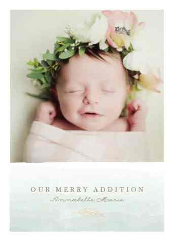 Birth Announcement Christmas Card 3