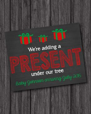 Twin Christmas Announcement 45
