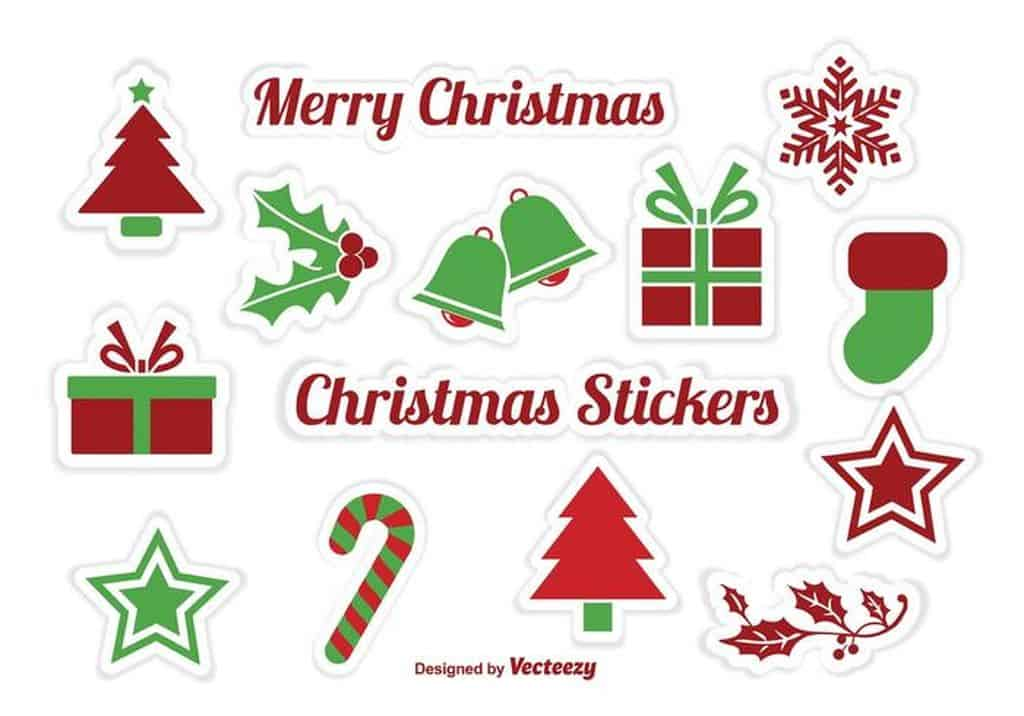 picture about Printable Christmas Stickers identify 18 Printable Lovable and Interesting Xmas Sticker - mybabydoo
