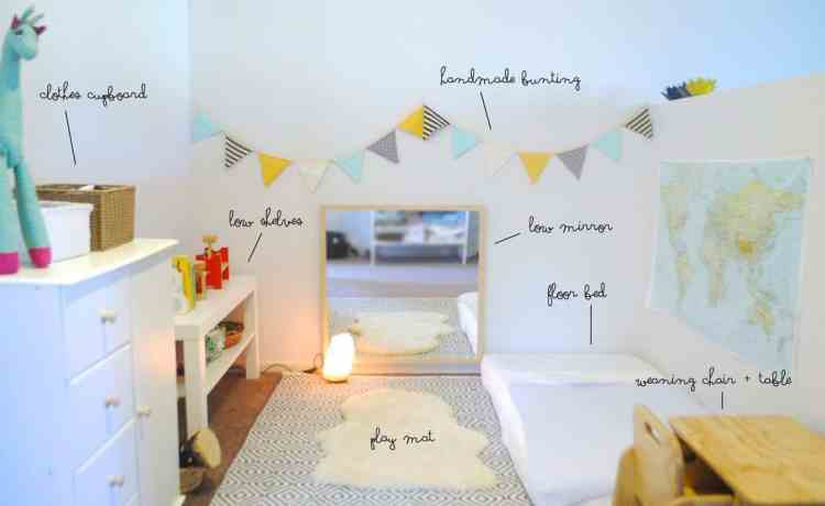 16 exceptional montessori room ideas for the boys mybabydoo for Chambre montessori 2 ans
