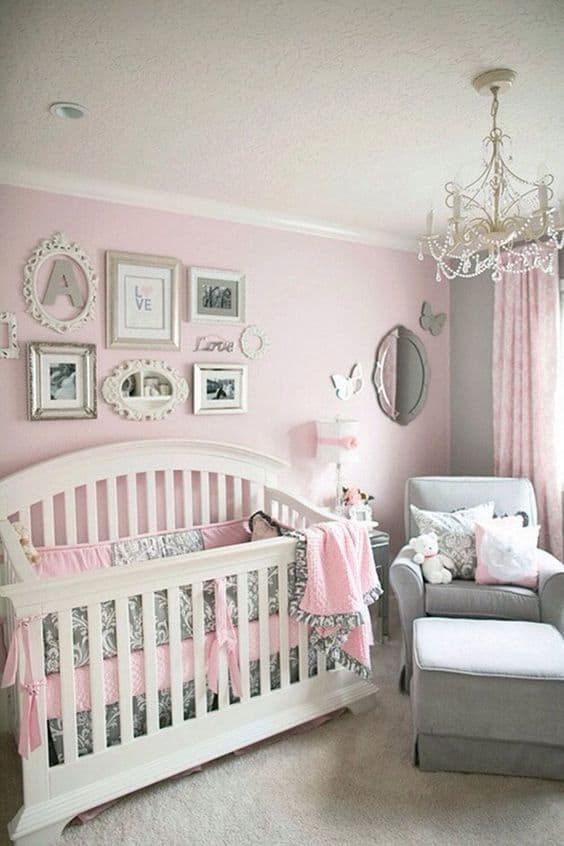 Pink Grey Nursery 15 Result