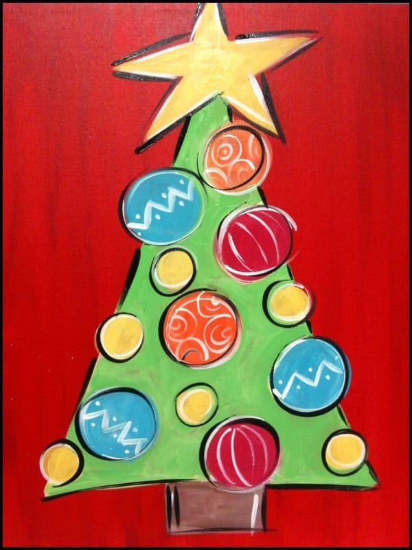 Christmas Canvas Painting 11