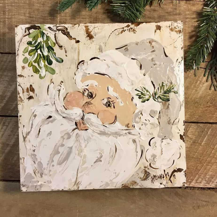 18 Easy Christmas Canvas Painting Ideas for Kids , mybabydoo