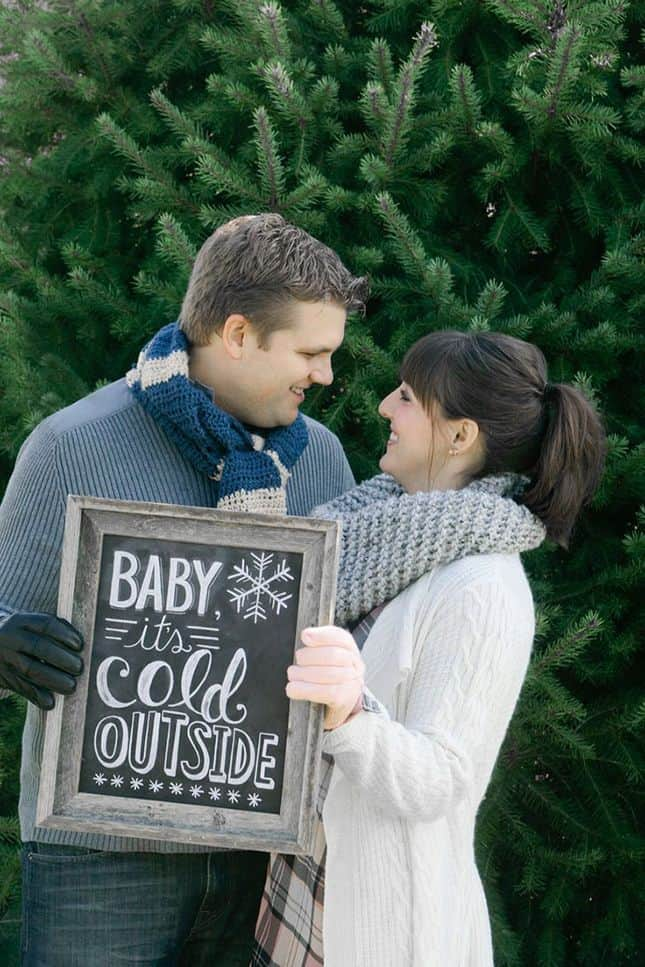 Winter Pregnancy Announcement 15