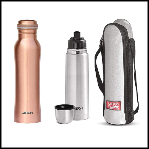 Milton Copperas Bottle with Thermosteel Flip Lid Flask