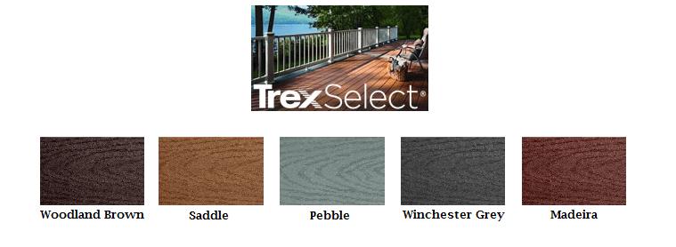 Trex Select colors-website