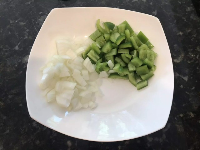 Onion & Pepper for Baked Beans