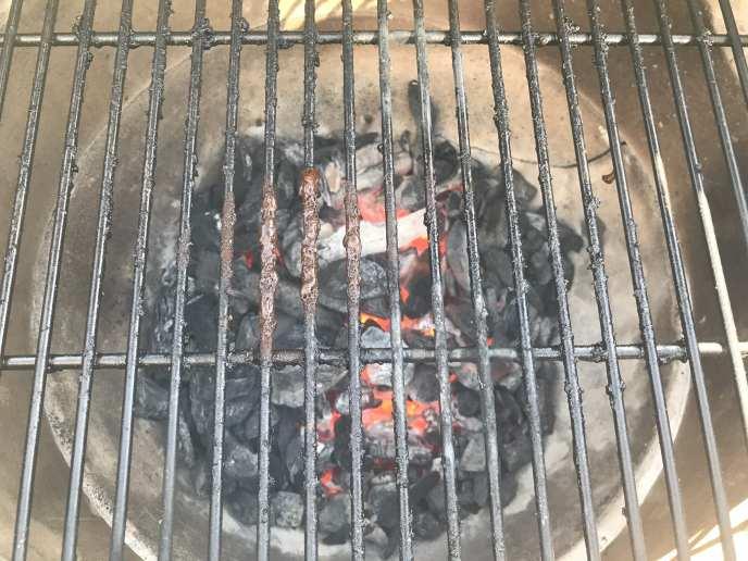 Big Green Egg Coals Firing Up