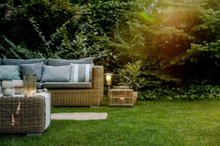 can you put patio furniture on grass