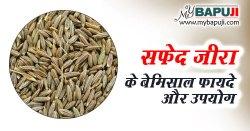 सफेद जीरा खाने के फायदे ,औषधीय गुण और उपयोग | Health Benefits of White Cumin in Hindi