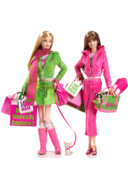 Juicy Couture Barbie Dolls | Crédito da imagem: divulgação www.barbiecollector.com / Mattel