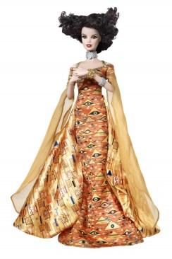 Gustav Klimt Barbie Doll | Crédito da imagem: divulgação www.barbiecollector.com / Mattel