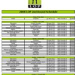 LOP 2nd round schedule