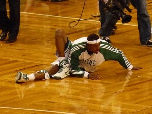 """Paul Pierce does a mean stretch"" by Lorianne DiSabato, via flickr"