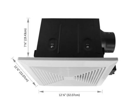 bathroom exhaust fan size