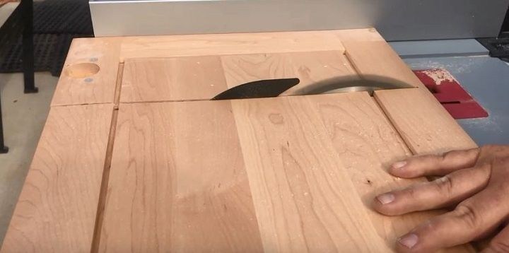 table saw to cut the door
