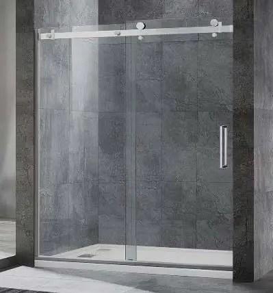 Single-sliding Frameless Shower Doors