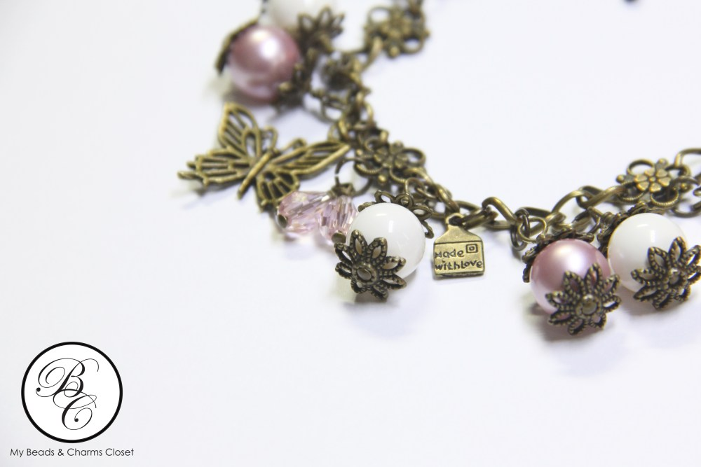 Autumn Series Inspired Charm Bracelet - Powder Rose (4/4)