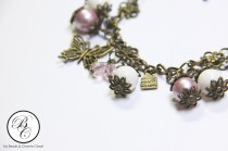 Autumn Season Inspired Charm Bracelet - Powder Rose Series 2