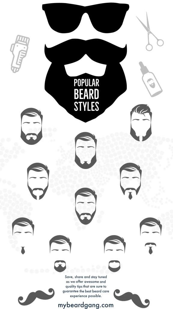 Popular beard styles