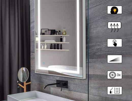 LED Bathroom Mirror With Bluetooth Speaker