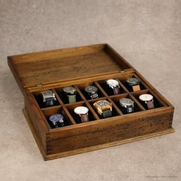 men's wooden watch box