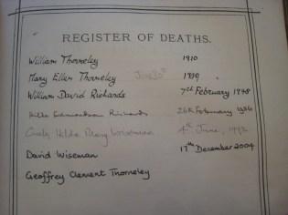Register of Deaths