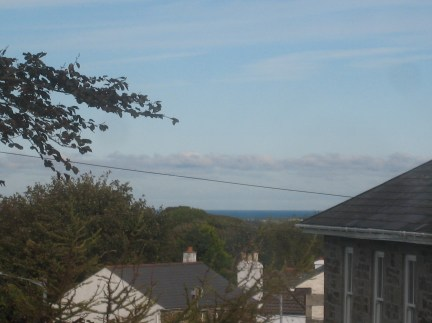 The sea from our bedroom window this morning