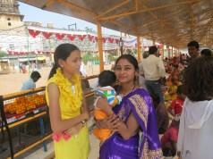 At the Festival in Orchha