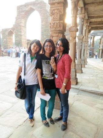 Researchers at Qtub Minaret