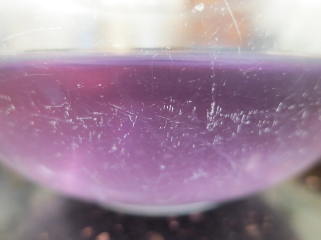Purple cooking water