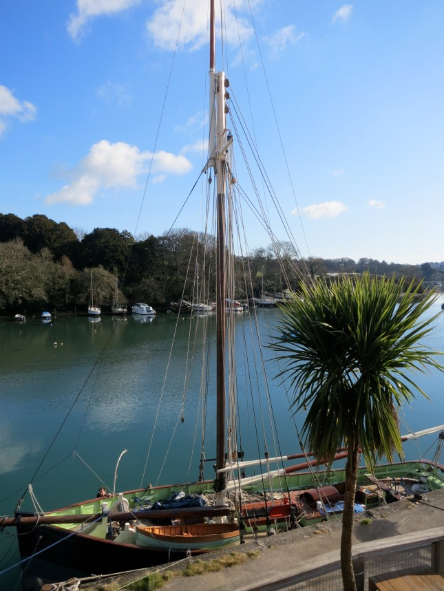 The Penryn River and a beautiful yacht