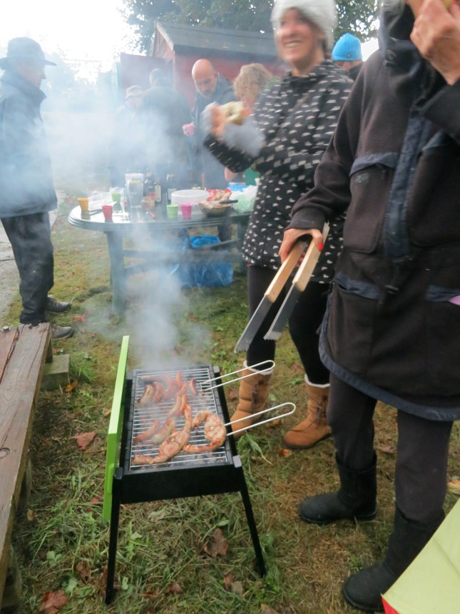 Barbeque in the rain