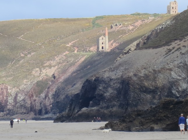 Wheal Coates from the beach below
